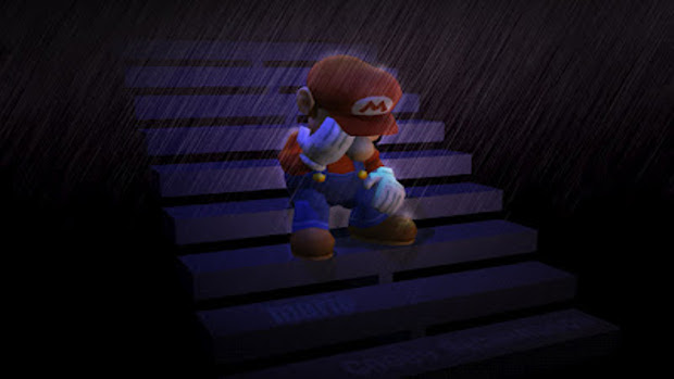 Mario depressed