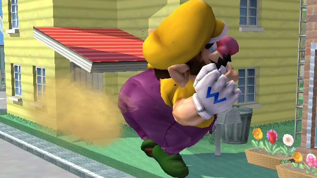 Wario farting