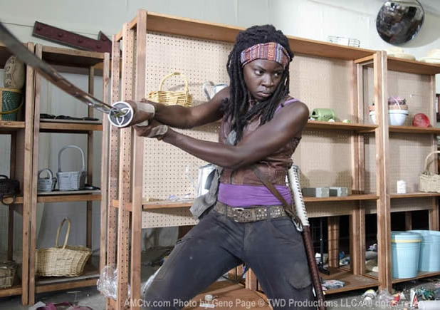 the walking dead season 3 michonne