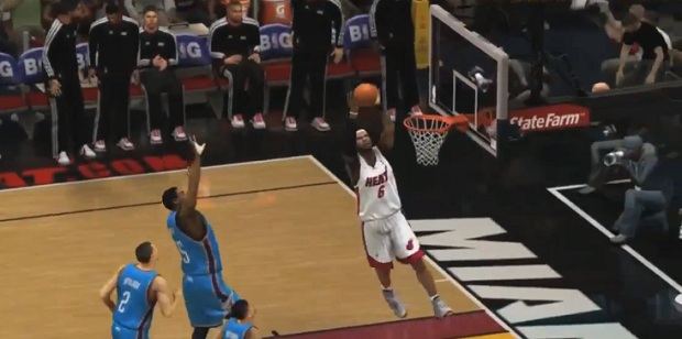 NBA 2K13 lebron james dunk
