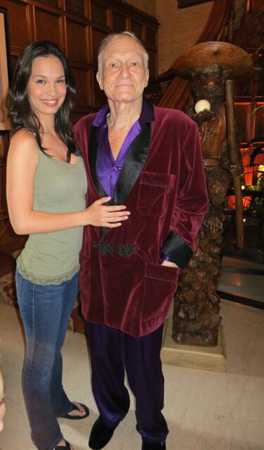 miss october with hugh hefner