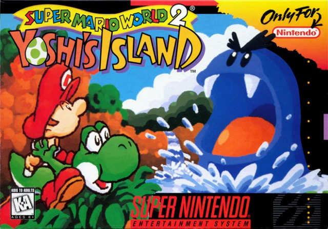 Yoshi's Island Box Art. AWWWW