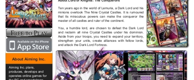 Lord of Knights: The Conquerors - Feature
