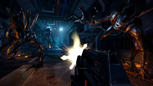 aliens colonial marines combat