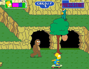 bigfoot the simpsons arcade game