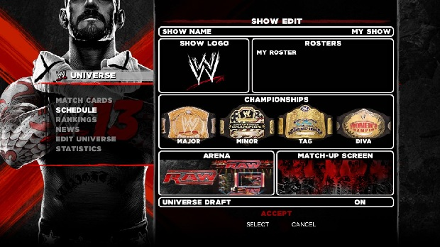 WWE 13 universe