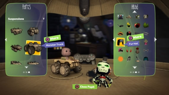 LittleBigPlanet Karting customization