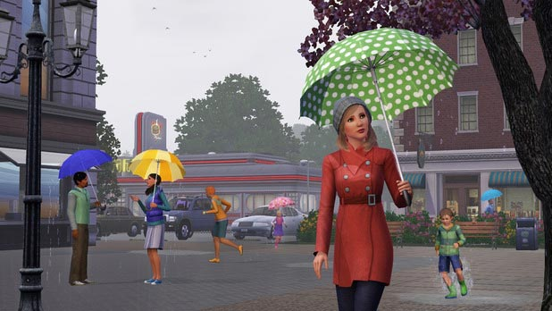 Sims 3 Seasons rain