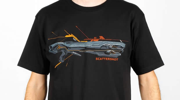 scattershot t-shirt halo 4