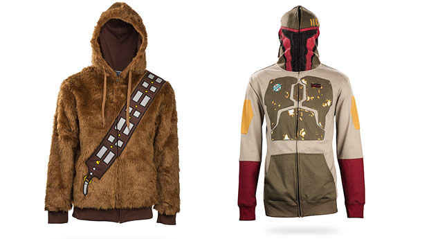 boba fett and chewbacca hoodies