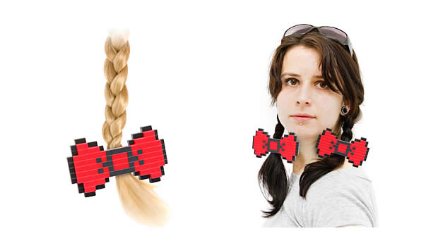 8-bit hair bow