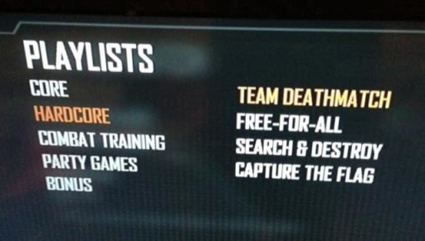 Black Ops 2 Hardcore Mode