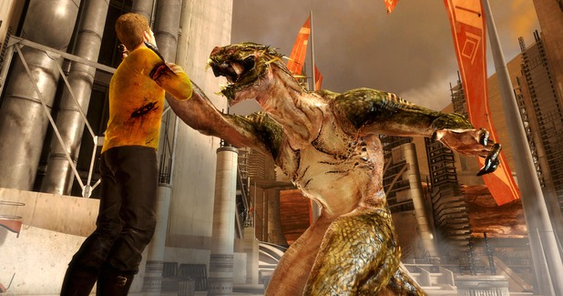 star trek the video game gorn choking kirk