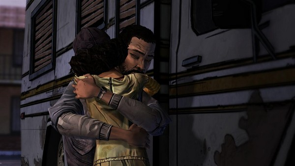 The Walking Dead hugging