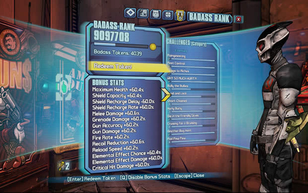 Borderlands 2 Screenshot - borderlands 2 badass rank