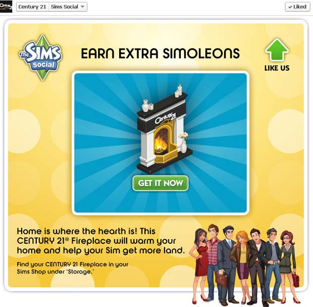 The Sims Social Century 21