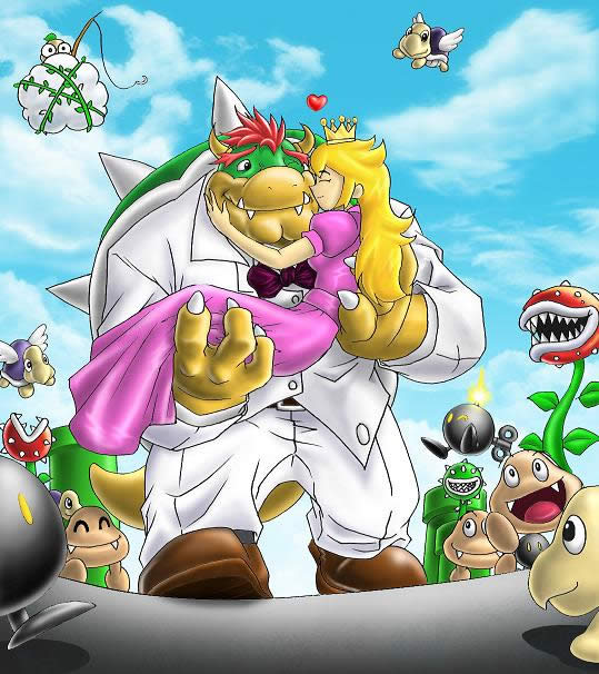 bowser and peach