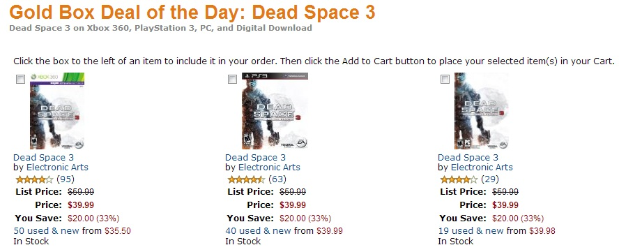 Dead Space 3 Deals