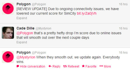 polygon twitter simcity