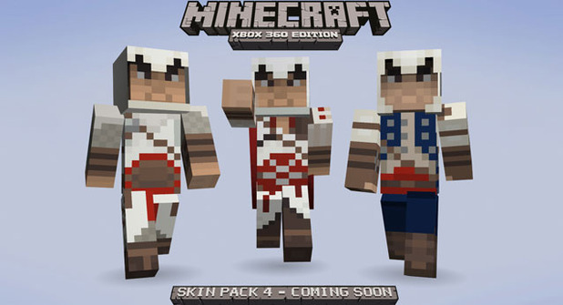 All Minecraft Xbox 360 Edition Skins and Skin Packs - YouTube