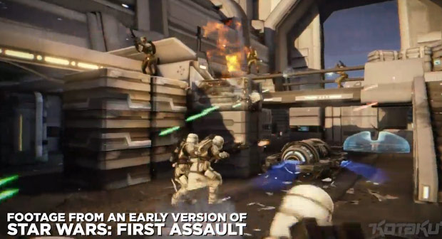 Star Wars First Assault footage
