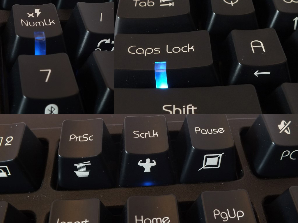 Not every key lights up