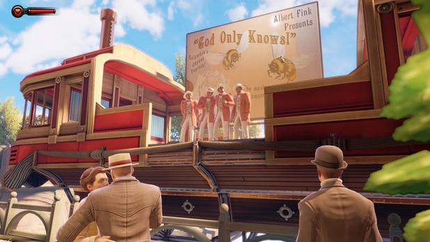 Bioshock Infinite Screenshot - BioShock Infinite - Barbershop Quartet