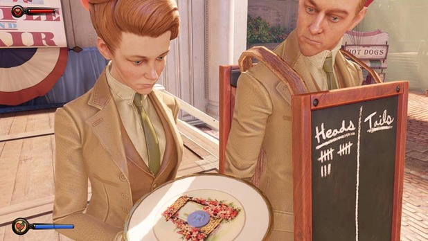 Bioshock Infinite Screenshot - BioShock Infinite - Lutece Twins Coin Toss