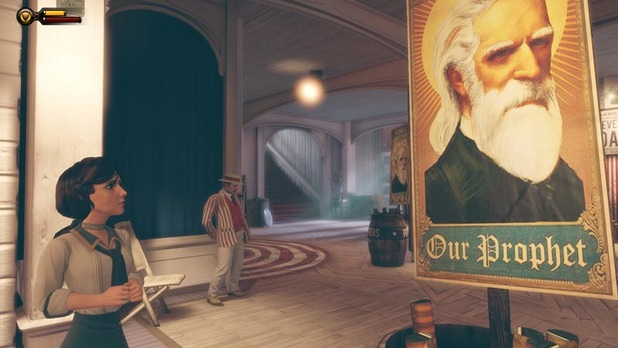 Bioshock Infinite Screenshot - BioShock Infinite - Elizabeth Fearful of Comstock