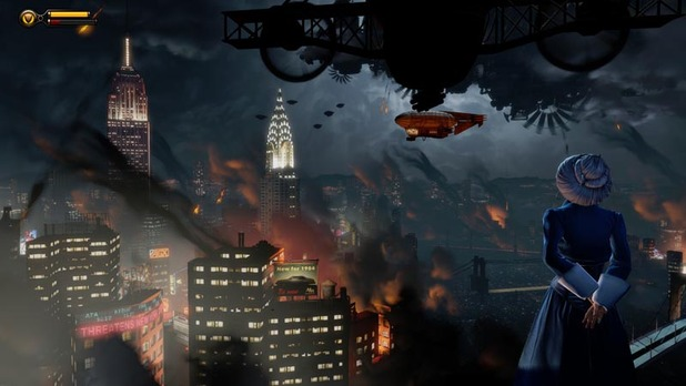BioShock Infinite - Older Elizabeth Burns New York
