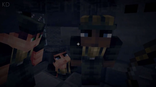 Battlefield 4 recreated Minecraft