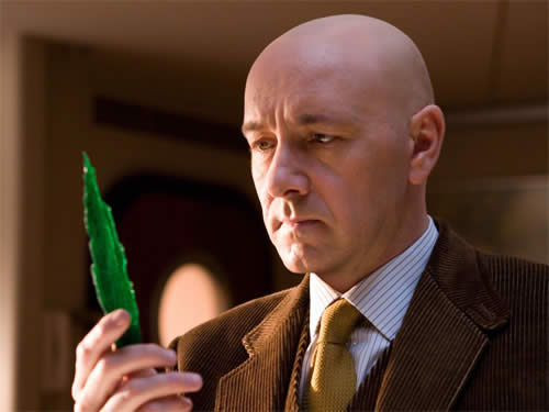 Superman Returns, Lex Luthor holding Kryptonite