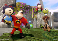 disney infinity toy box mode mr. incredible holding snow white