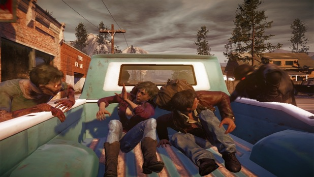 State of Decay Screenshot - state of decay truck bed attacked by zombies
