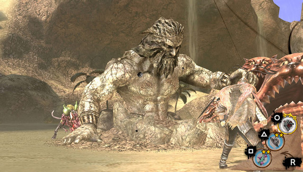 Soul Sacrifice fighting a giant monster