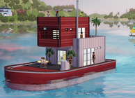 The Sims 3 Island Paradise houseboat