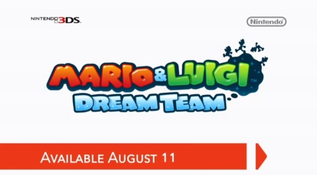 Mario and Luigi Dream Team logo and release date, nintendo direct