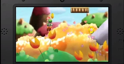 Mario and Donkey Kong: Minis on the Move Screenshot - Yoshi's Island 3DS