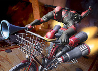Deadpool Bike Ride