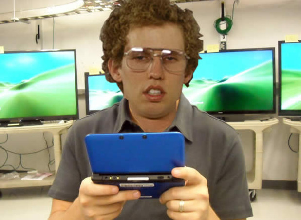 Animal Crossing: New Leaf Screenshot - Napoleon dynamite playing 3ds