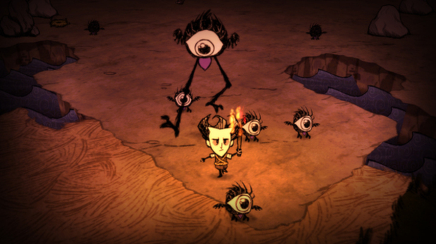Don't Starve - Wilson surviving