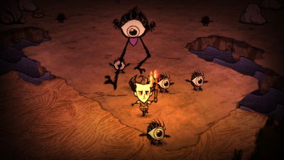 Don't Starve Screenshot - Don't Starve - Wilson surviving