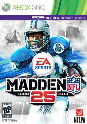 Madden NFL 25 Barry Sanders box art