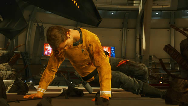 Star Trek video game, 2013, Kirk injured