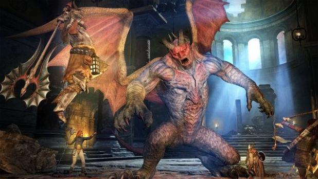 Dragon's Dogma: Dark Arisen Screenshot - Dragon's Dogma Dark Arisen Fighting Gargoyle