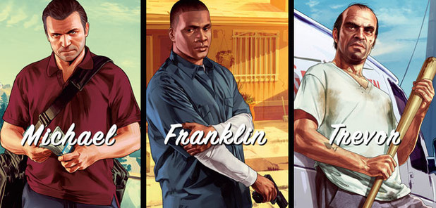 Grand Theft Auto V Screenshot - GTA 5 characters - Michael Franklin Trevor