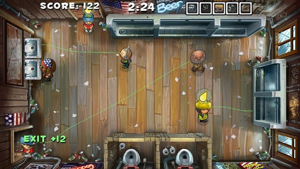 Screenshot - Men's Room Mayhem, PS Vita, Gameplay