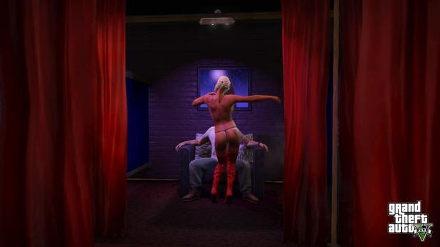 Grand Theft Auto V Screenshot - Grand Theft Auto 5 stripper giving lapdance