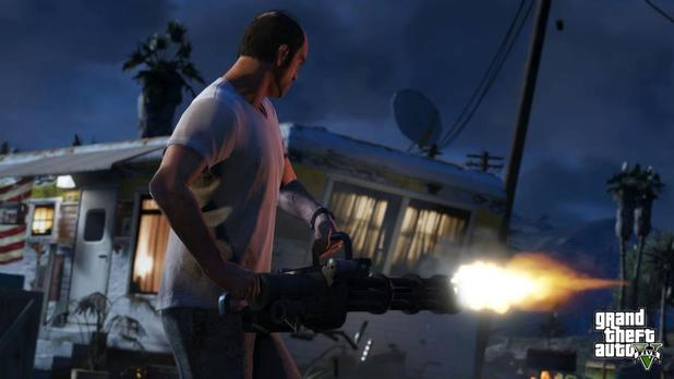 Grand Theft Auto V Screenshot - gta 5 shooting gatling gun