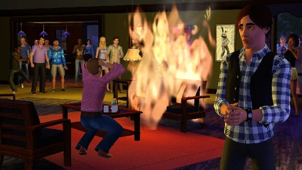 the sims 3 fire